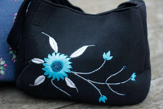 bolsa negro y turquesa mamalatinatips.com