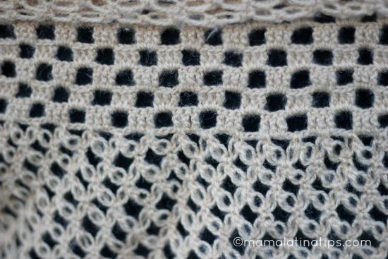 capa tejida detalle - mamalatinatips.com