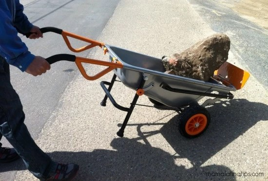 Worx Tools Aerocart with big rock