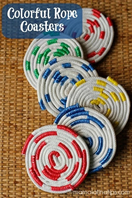 Colorful Rope Coasters - mamalatinatips.com
