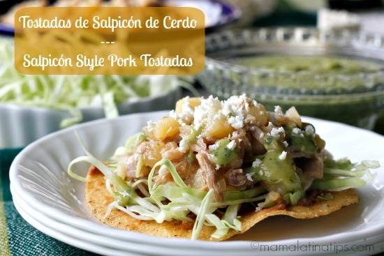Pork Tostada Salpicon Style