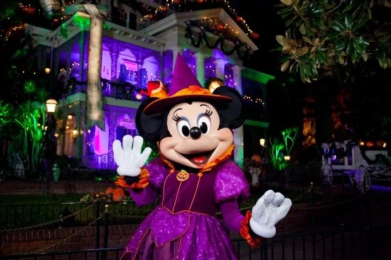 Minnie at Mickey's Halloween Party in Disneyland