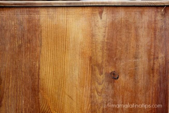 Una pieza de madera
