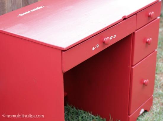 Red desk side