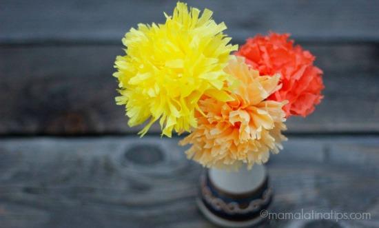 paper flowers - cempazuchitl