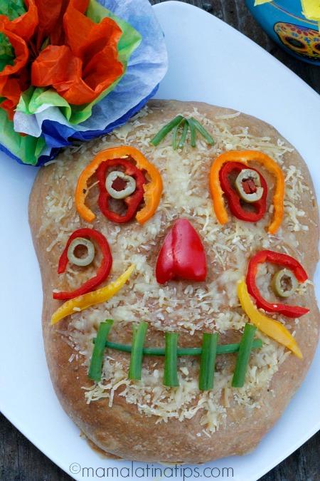 Día de Muertos Foccacia Style Bread
