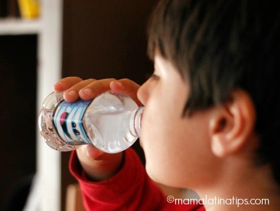 Older kid drinking water