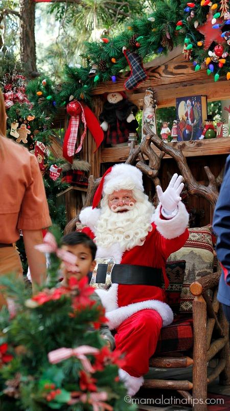 Santa Claus at Jingle Jangle Jamboree in Disneyland
