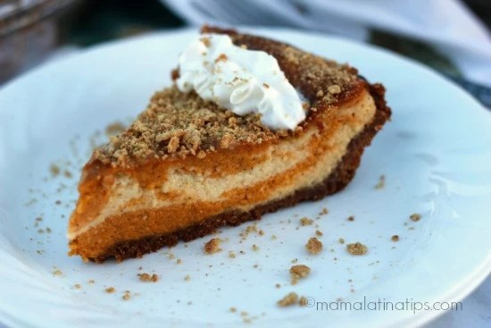 Marbled Pumpkin Cheescake Pie