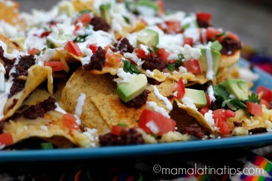 chorizo nachos a la mexicana