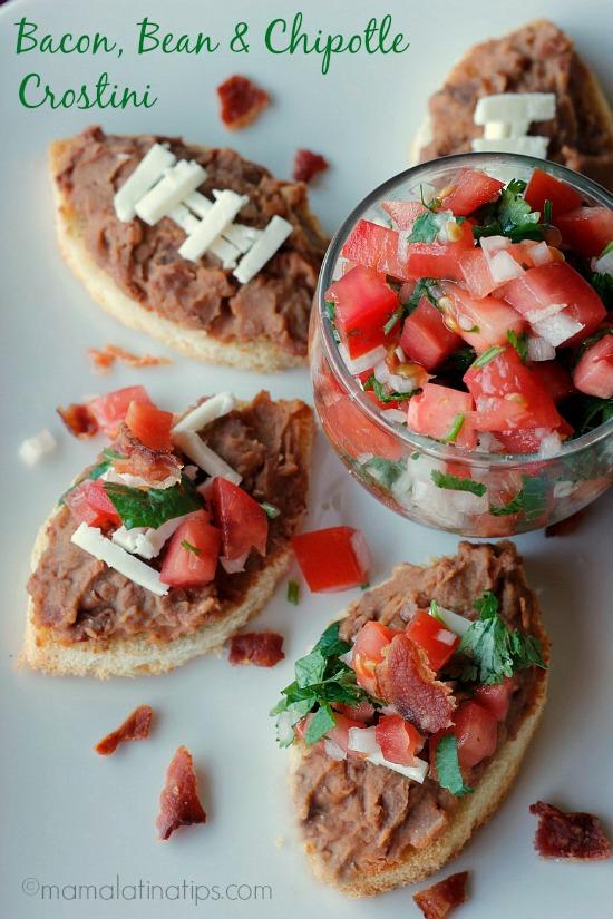 Bacon, Bean & Chipotle Crostini Recipe