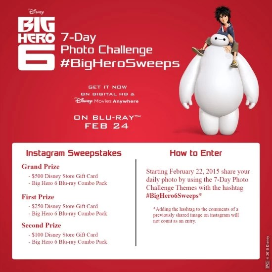 Big Hero 6 sweepstakes