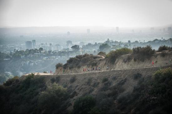 Runners in the mountain, scene of McFarland USA