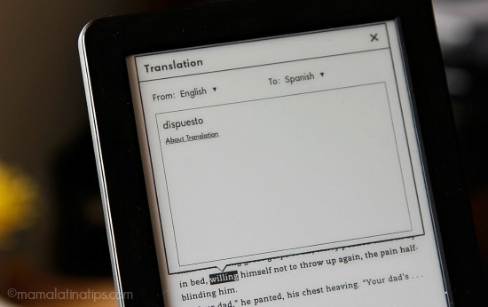 Translation feature on the Kindle