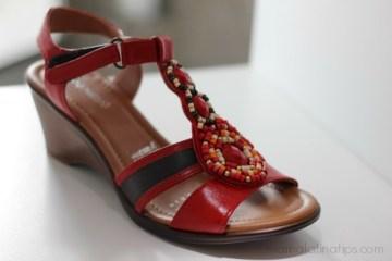 Zapatos en el Perfecto Color Rojo
