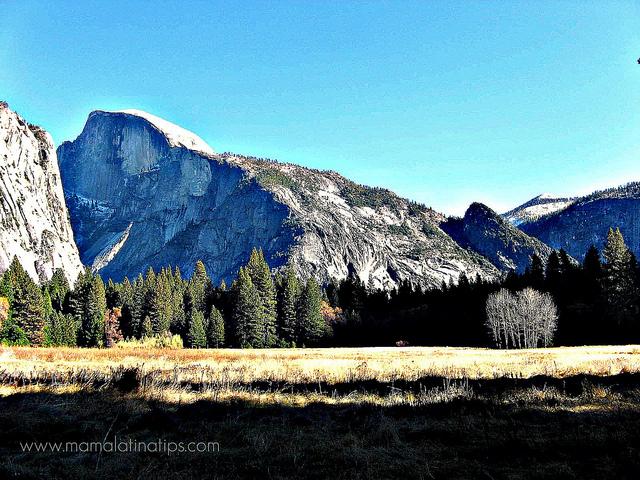 Yosemite Half Dome while Camping - mamalatinatips.com