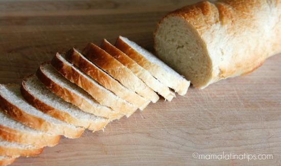 French bread sliced by mamalatinatips.com