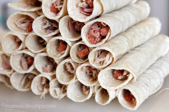 Rolled taquitos dorados - mamalatinatips.com
