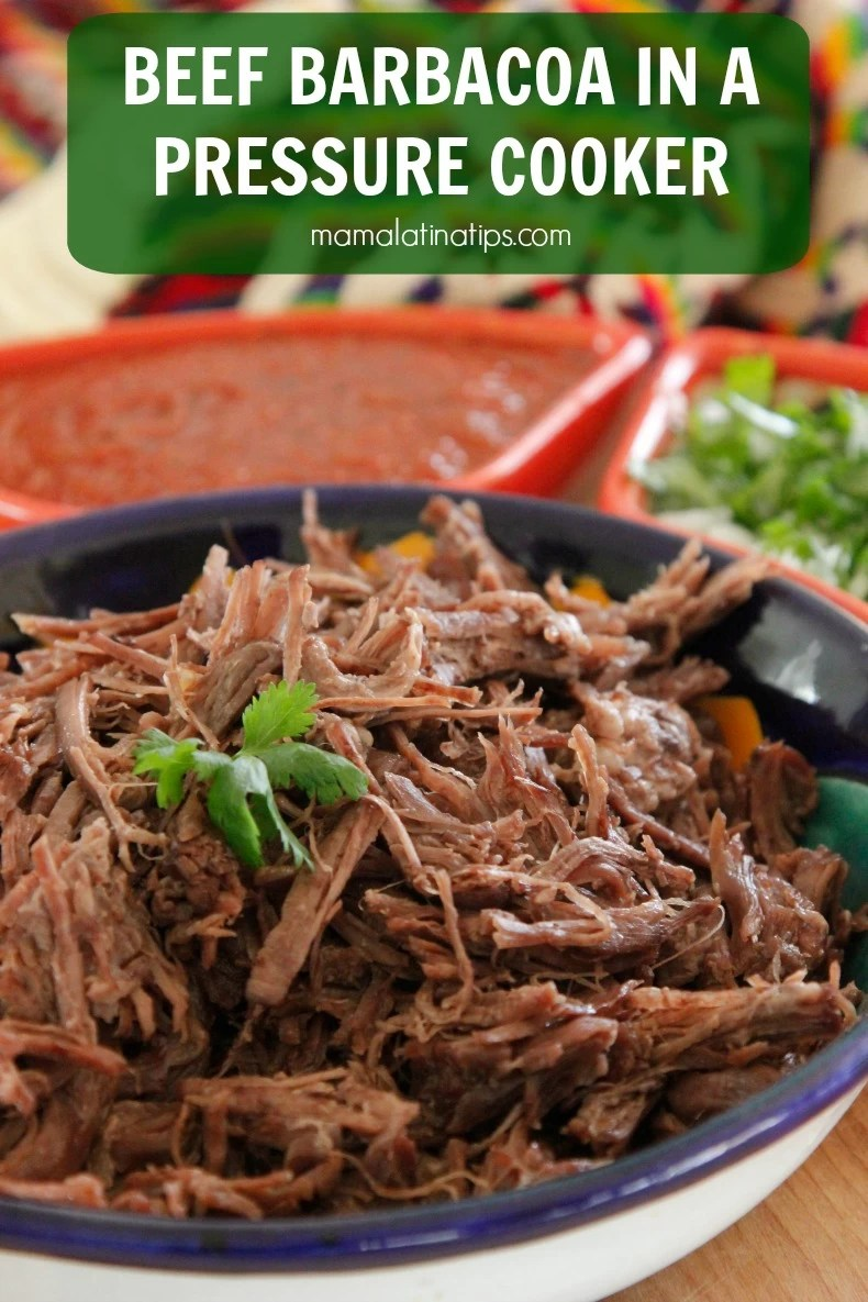 If there's such a thing as Mexican soul food, for me, beef barbacoa is it. Cooking beef barbacoa in a pressure cooker is so easy and takes just minutes, but its succulent taste makes you think it has slow-cooked all day. Learn how to make it and serve it in tacos!
