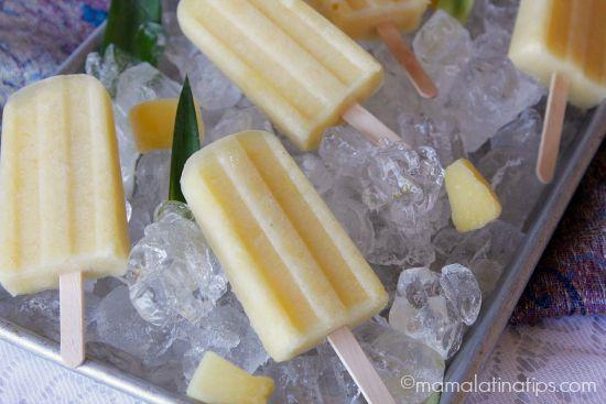 Refreshing Pineapple-Ginger Popsicles