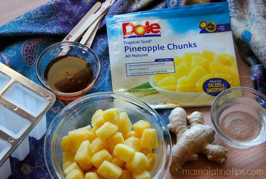 Pineapple-ginger popsicles - ingredients