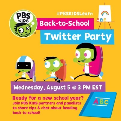 Back-to-school-Twitter Party with PBS