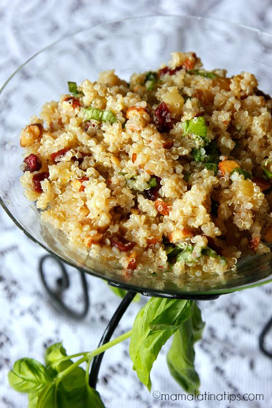 sweet & sour quinoa salad