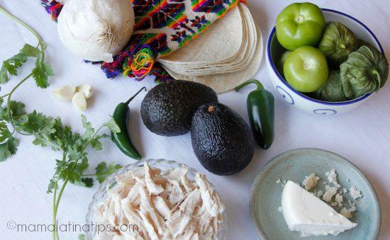 Avocado Enchiladas Ingredients