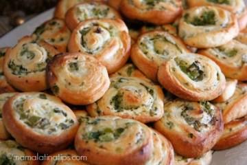 Broccoli, Cream Cheese and Jalapeño Pinwheels