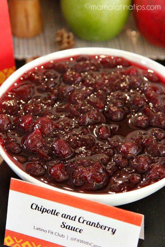 chipotle & cranberry sauce