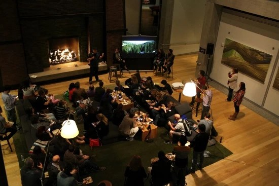 Campfire at Pixar view from above