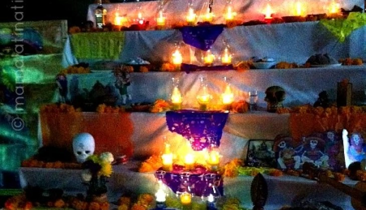 Displays for Day of the Dead in Mexico