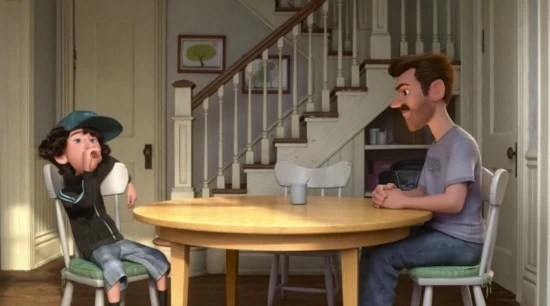 Jordan and Riley's Dad-Riley's First Date - Inside Out - mamalatinatips.com