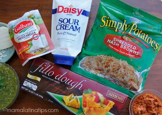 chorizo potato bites with salsa verde - ingredients - mamalatinatips.com