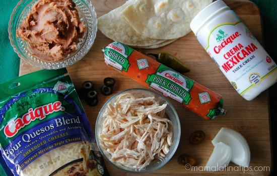 Nacho quesadillas ingredients