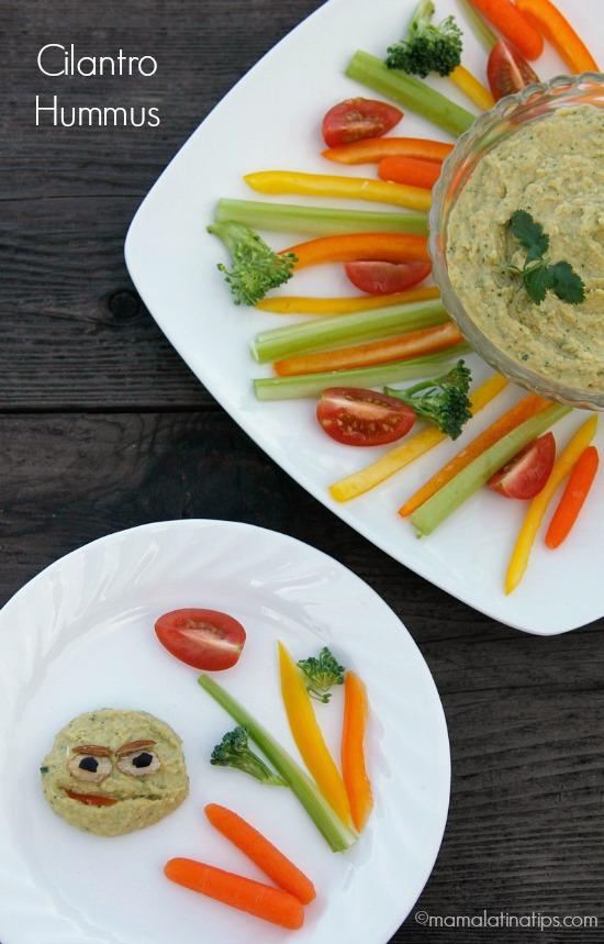 Sesame Street Inspired Cilantro Hummus
