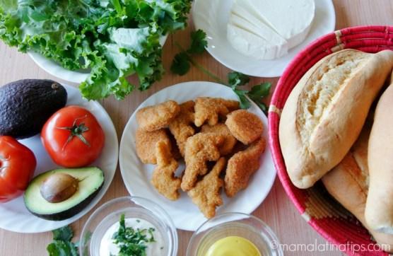 ingredientes para hacer una torta de nuggets de pollo - mamalatinatips.com