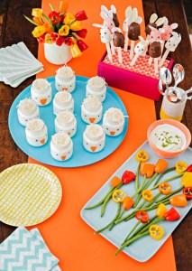 Bocadillo de yogurt: Pollitos sonrientes - mamalatinatips.com