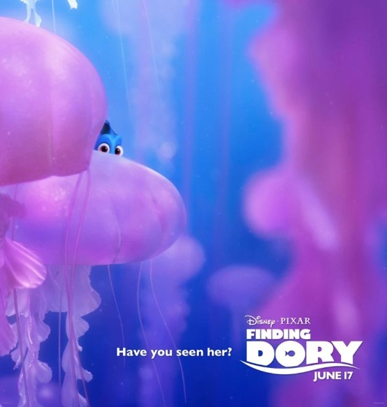 Finding Dory poster - jelly fish