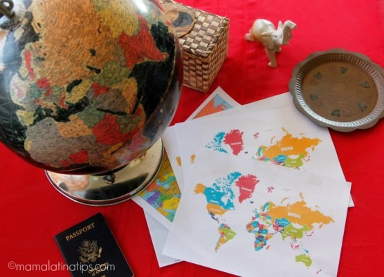 Globe and maps - mamalatinatips.com