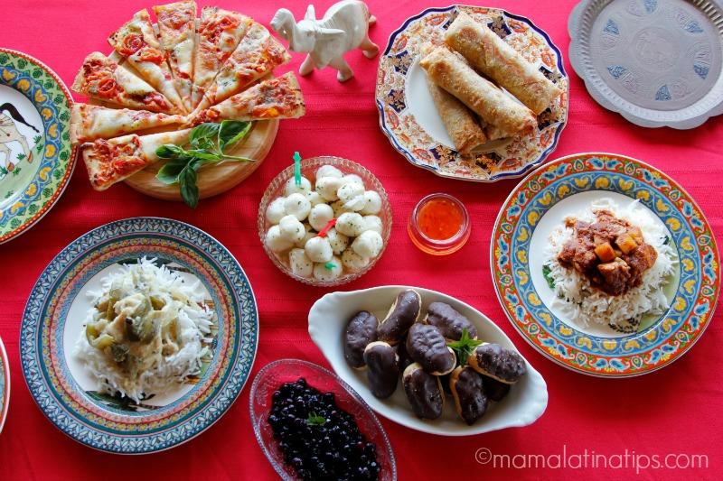 Miércoles de comida del mundo - mamalatinatips.com