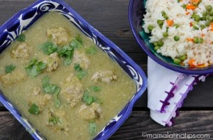 Turkey Abondigas in Green Sauce