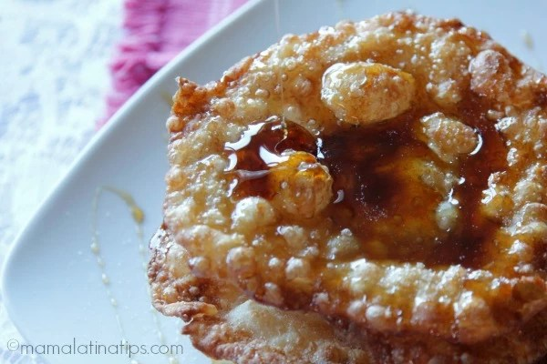 Buñuelos con miel by mamalatinatips.com
