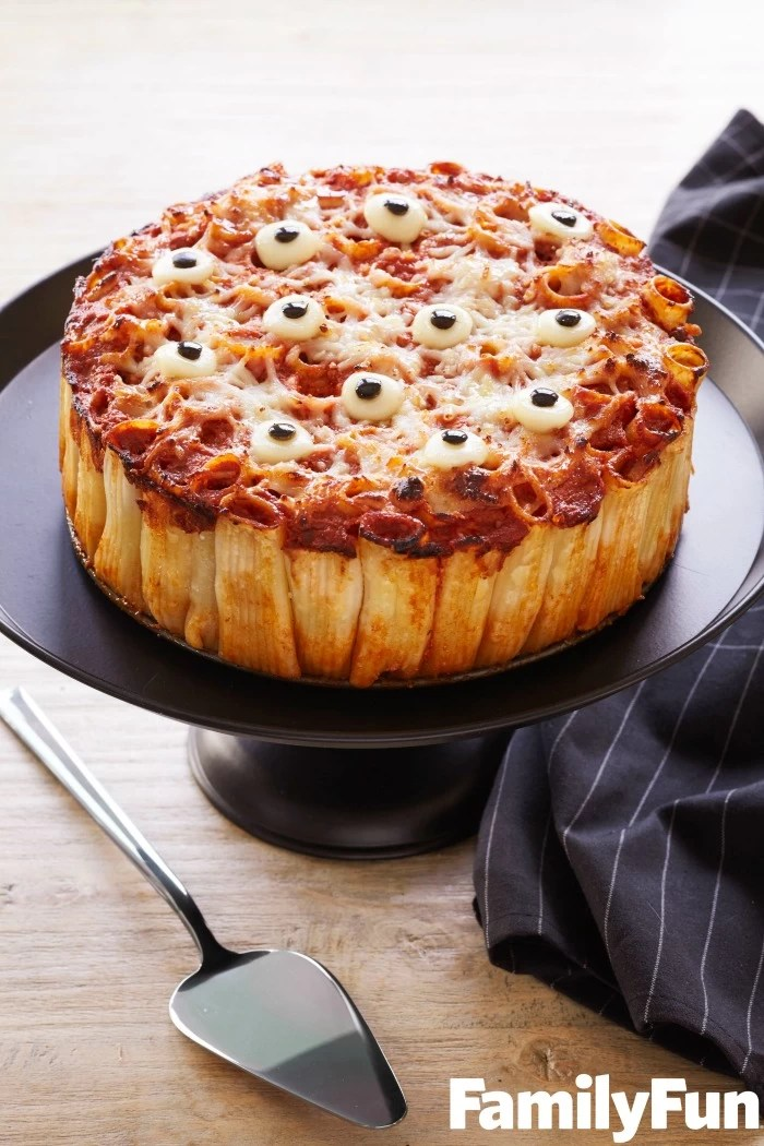 Pasta Pie for Halloween