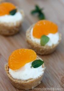 Mini Tartaletas de Mandarina Sin Horneado - mamalatinatips.com