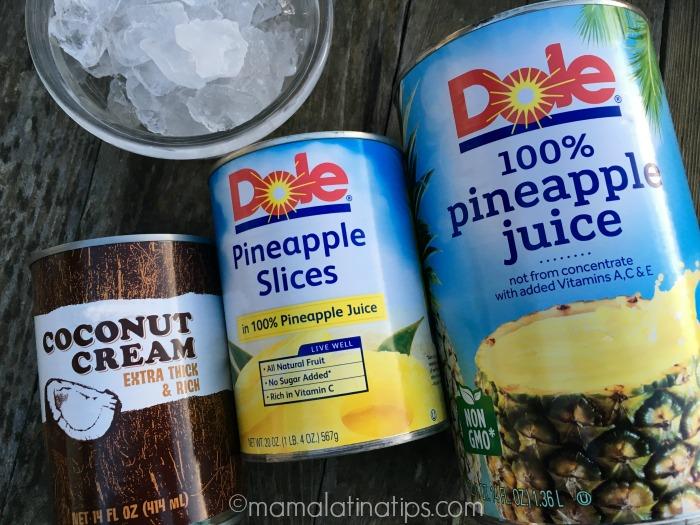 Dole pineapple juice and pineapple slices - mamalatinatips.com