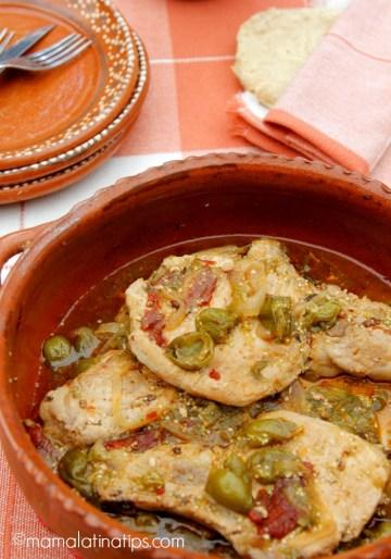 Tomatillo Chipotle Pork Chops