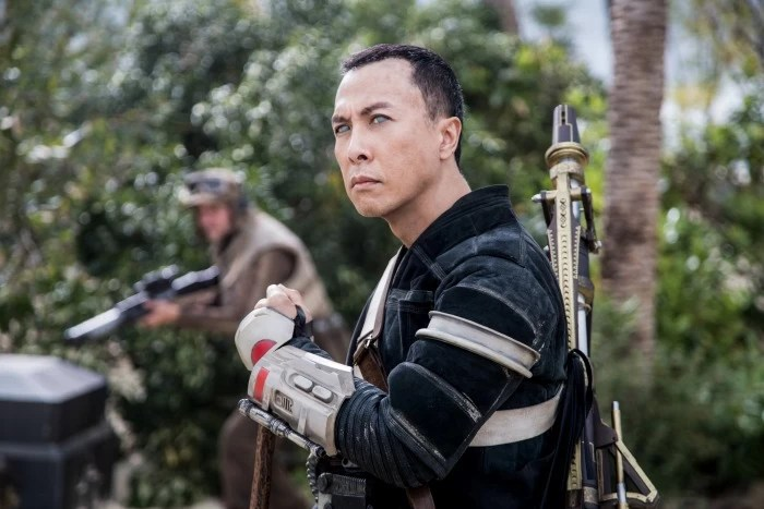 Donnie Yen as Chirrut on Rogue One: A Star Wars Story - mamalatinatips.com