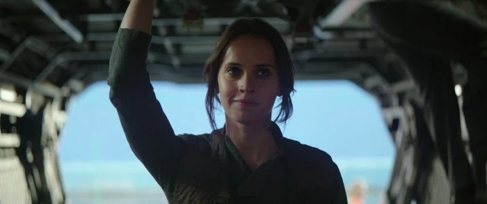 Felicity Jones as Jyn Arso on Rogue One: A Star Wars Story - mamalatinatips.com