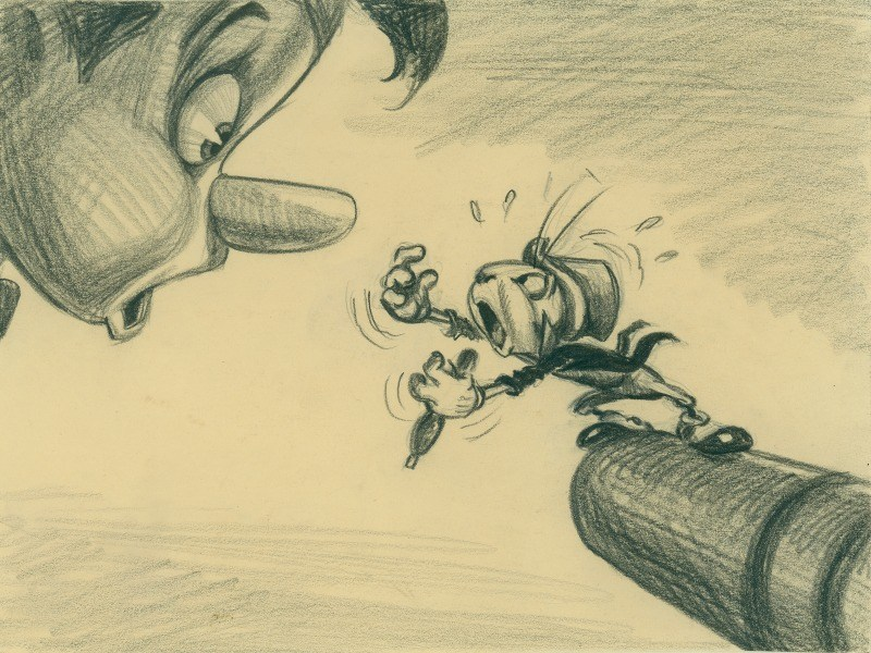 Pinocchio and Jiminy Cricket - mamalatinatips.com